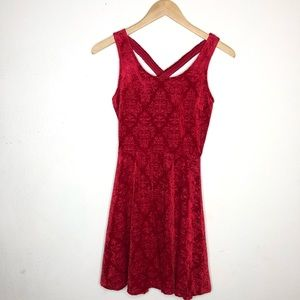 Candie's Red Floral Lace Dress XS